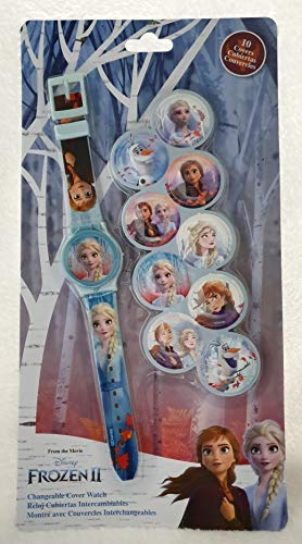 Kids Licensing |Reloj Analógico Niños | Reloj Frozen II | Esferas Intercambiables |Kit Reloj Infantil + Esferas Personalizables | Reloj de Pulsera Infantil | Reloj de Aprendizaje | Licencia Of
