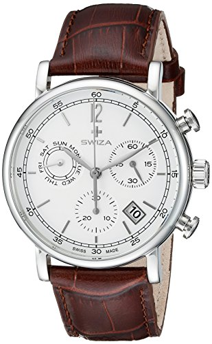 SWIZA Alza Chrono, movimento al quarzo svizzero, cronografo, cassa in...
