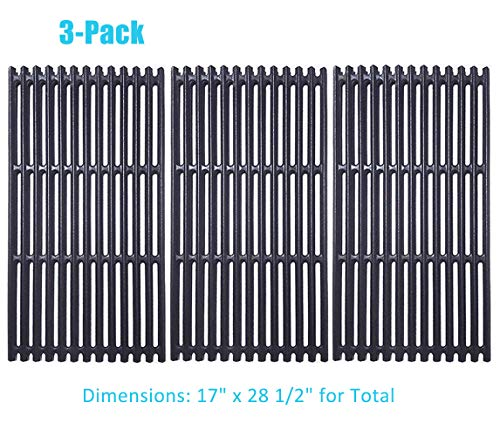 BBQration 17 inch Matte Cast Iron Cooking Grid Replacement for Charbroil Tru-Infrared 463242715, 463242716, 463276016, 466242715, 466242716, 466242815, 466242816, G533-0009-W1, and More
