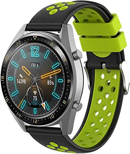 Classicase Correa de Reloj Recambios Correa Relojes Caucho Compatible con Galaxy Watch Active/Active 2 / Active 3 / Watch 42mm - Silicona Correa Reloj con Hebilla (20mm, Pattern 9)