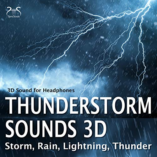 Rain and light storm noise - 3D sound for headphones
