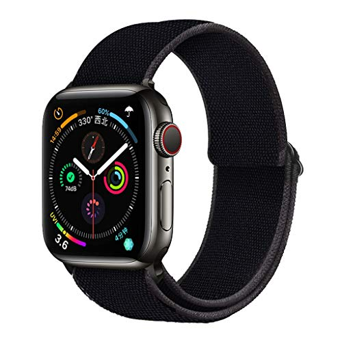 ZZLOVE Stretchy Solo Loop Nylon Strap Compatible with Apple Watch Bands Replacement 38mm 40mm 42mm 44mm Elastics Adjustable Women Men Woven Sports Wristbands for iWatch Series 6/5/4/3/2/1 SE