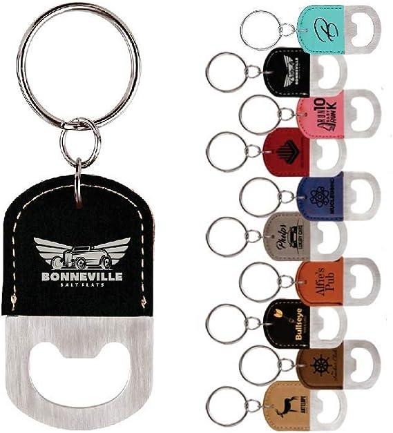 Sample Set of Blank Laserable Leatherette Bottle Opener for engraving Sample Set includes all 15 colors