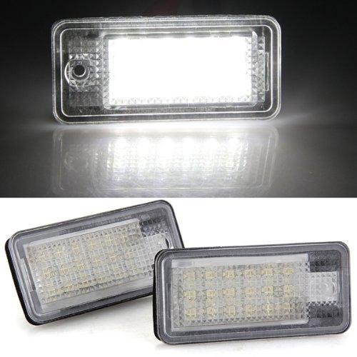 SODIAL(R) 2x la lumiere de plaque d'immatriculation 8 LED 3528SMD Blanc pour AUDI A3/S3 DC12V 6500K