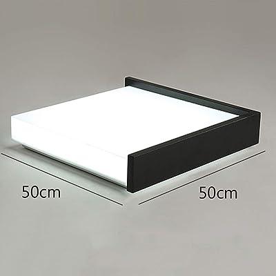 Szlight Personnalité Créative Plafonnier LED Moderne Minimaliste Dimmable Chaud Plafonnier pour étude Lecture Chambre Salon Lampes De Salon (Black D 50CM)