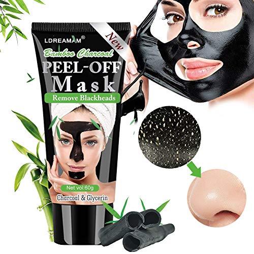 Black Mask,Maschere Viso,Maschera Nera,Rimuovere Punti Neri, Blackhead Remover Maschera Purificante peel-off Mask con carbone attivo per una profonda pulizia dei pori di crema per il viso (60g)…