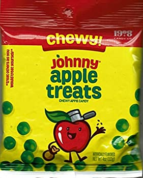 Chewy! Johnny Apple Treats Chewy Apple Candy - Fat Free Candy   3 PACK