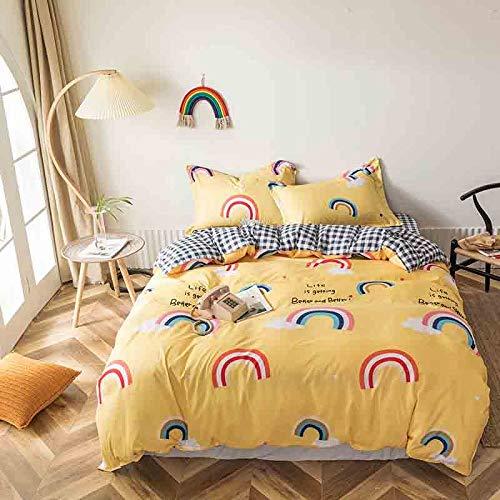 MMHJS 4-Teiliges Set Und 1 Bettbezug Mit Reißverschluss 1 Blatt 2 Kissenbezüge Europäische Art Bettwäsche Einfaches Zuhause Kreative Dekorationen
