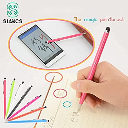 WillBest 2 in 1 Tablet Capacitive Touch Stylus Pen Ball Point Pen Microfiber Cell Phone Touch Screen Pen for iphone for Samsung Laptop