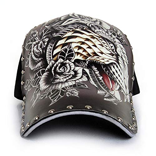 sdssup Sombrero Gorra de béisbol con Estampado de Cabeza de Leopardo Masculino Sombrero de Tatuaje Negro Talla única