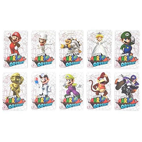 MIAOGOU Super Mario Juguete Conjunto Completo 10pcs NFC Tag Super Mario Odyssey Game Card For Amiibo Printing Card Tag Ntag215 Prined Sticker NS Switch Wiiu