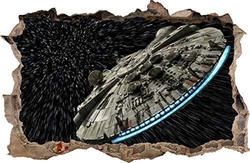 WANDAUFKLEBER Loch in der Wand Star Wars Falke Millennium Wandtattoo 102 (XXL - 115 x 75 cm)