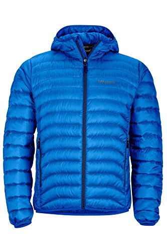 Marmot Men's Tullus Hoody Winter Puffer Jacket, Fill Power 600, True Blue, Small