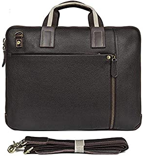 J.M.D Men's Bags All Seasons Real Cow Leather Handbags Briefcase for Business