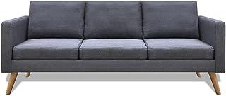 3-Seater Fabric Sofa - Dark Grey