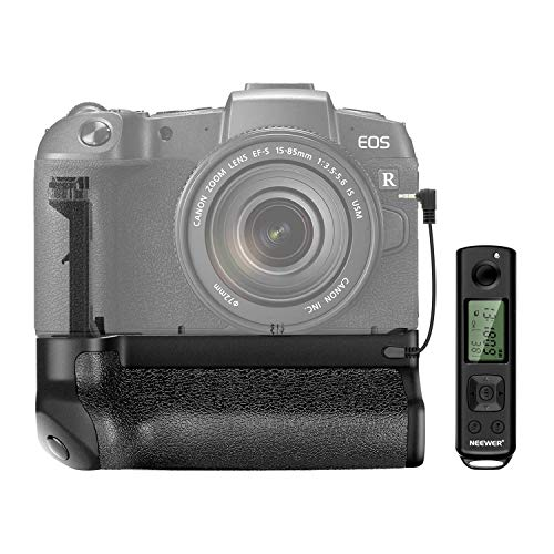 Neewer Vertical Battery Grip with Battery Holder Compatible with Canon EOS RP, Work with 1 or 2 Pieces Canon LP-E17 Battery, 2.4G Wireless Remote Control Included (Battery Not Included)
