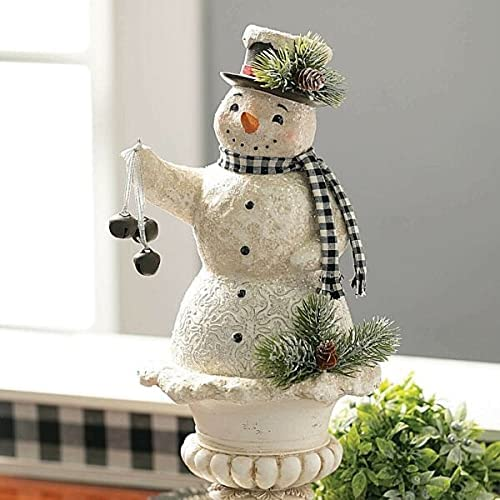 """for Christmas High quality new Holiday Large Snowman on 5"""" Pedestal Figurine 15 New life S"""