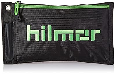 Hilmor Zipper Pouch, Waterproof Storage Bag for Small HVAC Tools & Accessories, Black & Green, ZP 1839081