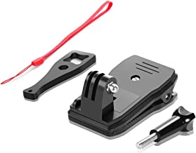 UTEBIT Adjustable Camera Mount for Sports Backpack 360° Rotary Compatible for GoPro Hero 7/6/5/4/3/2/1 Session 3+ 3 SJCAM SJ4000 Garmin Virb XE etc