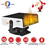 Upgrade Portable Car Heater, 2 in 1 12V 150W Plug in Car Heater Windshield Defogger Heater & Cooling Fan, 30s Fast Auto Heater Cooling Fan Plug in Cigarette Lighter,180 Degree Whirling/Low Noise