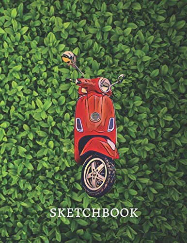 Moped Motorcycle Sketchbook | Activity book for boys: Premium large Sketchbook for drawing doodling and writing