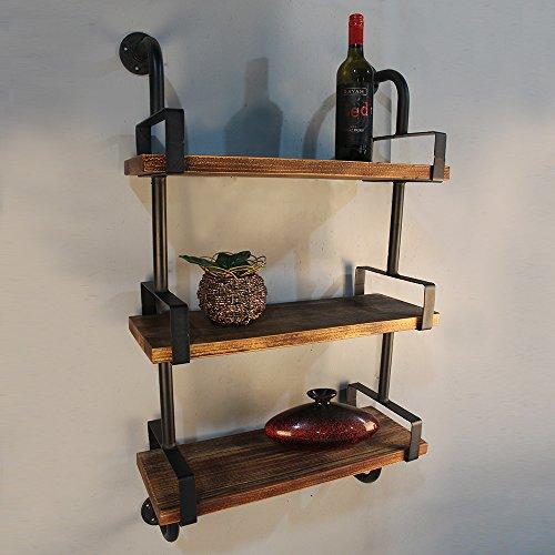 IKAYAA 3-Tier Estantes con Tablones de Rústico Industrial de Hierro para Cocina...