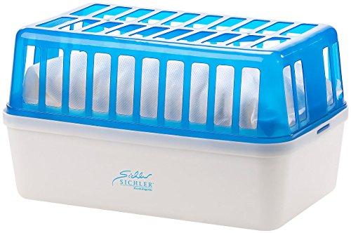 Sichler Haushaltsgeräte Luftentfeuchter: Raumentfeuchter mit 1,2 kg Granulat, bis 2,5 l, für Räume bis 50 m² (Entfeuchter Box)