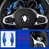 Coche Volante Fit SHIFT FIT PARA BMW 1/2/3/6/6/7 Serie GC GT TOURING F40 F44 G20 G21 G30 G31 G32 G11 G12 Rendimiento XDRIVE DSG Decorativos para coche (Color Name : Blue)