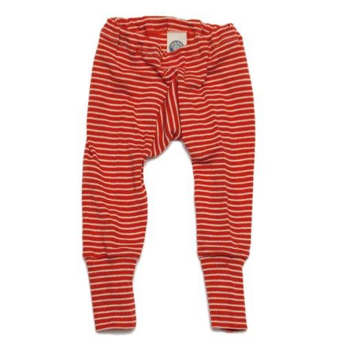 Cosilana Baby Unterhose lang, Gr��e 74/80, Farbe Rot geringelt