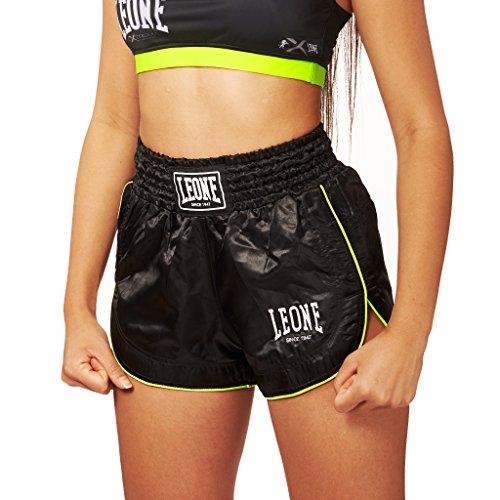 LEONE 1947 Basic W, Pantaloncino Kick-Thai Donna, Nero, S