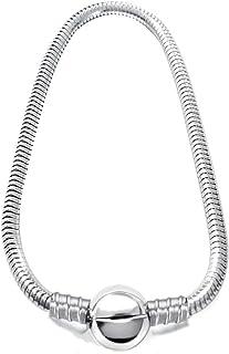 JMQJewelry Snake Chain Bracelet Ball Charm Bracelet Stainless Steel with Lobster Clasp Beads for Women Men