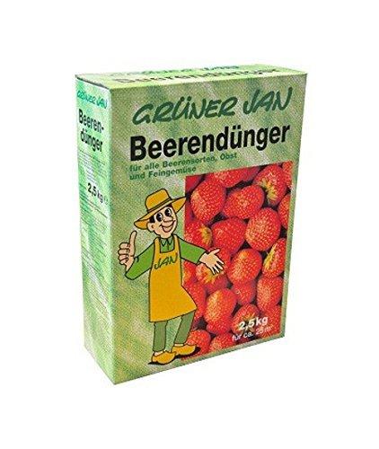 Grüner Jan Beerendünger 2,5 kg Obstdünger Dünger Gemüsedünger Beeren