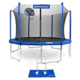 SONGMICS Trampoline with Enclosure Outdoor 14-Feet with Basketball Hoop, Safety Net, Jumping Mat, Replacement Pad, TV Rheinland Certificated According to ASTM and GS USTR14BU