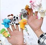 MegaPack de 10 Marionetas de dedo para niños, Marionetas de Dedos para Niños Bebé...