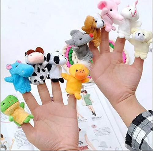 MegaPack de 10 Marionetas de dedo para niños, Marionetas de Dedos para Niños Bebé Marioneta de Dedo de Animal Pequeño Conjunto de Marionetas de Dedo Animal Marioneta de Dedos Set de Marionetas de Mano