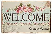 ウェルカムウォールメタルポスターレトロプラーク警告ブリキサインヴィンテージ鉄絵画装飾バーガレージカフェのための面白いハンギングクラフト