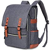 PARADOX (LABEL) Vintage Collage Laptop Backpack Without USB Charging Port Unisex (Grey)