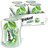 Trident Fresh Sugar Free Gum, Spearmint Cool Flavor, 4 Go-Cups (160 Pieces Total)