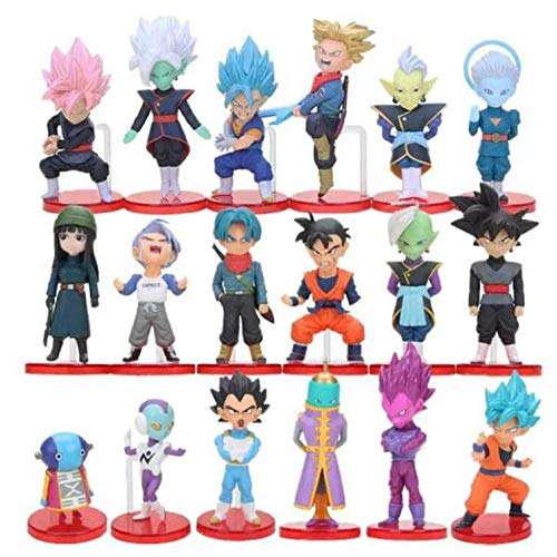 CXNY Dragon Ball The Super Warriors Special Figure-Super Saiyan Set de Cajas / 18pcs / 4-8cm