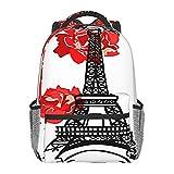 BYETWIK Mochilas Escolares Niños Niñas, Mochilas Hombre Mujer, Casual Deporte Playa Viaje Compras Bolsa Escolar, Mochilas Escolares Francia Paris Eiffel
