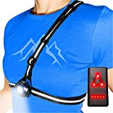 AVANTO PRO Chest Running Light for Runners and Joggers, Adjustable Beam and Reflector, All in one Reflective Running Vest Gear, Safety Light, Headlamp Flashlights, USB LED Rechargeable Bicycle Light