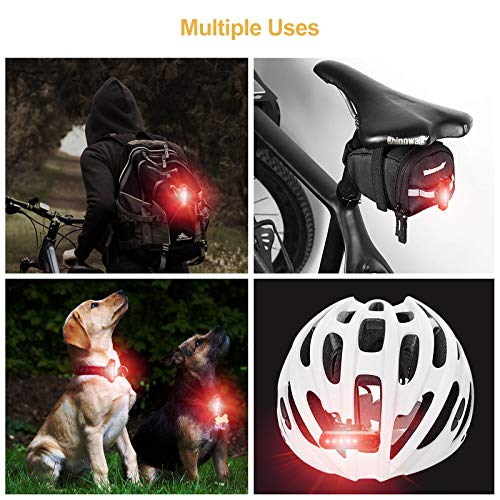 330mah Lithium Battery Ascher USB Rechargeable LED Bike Tail Light 2 Pack 2 USB Cables Included Bright Bicycle Rear Cycling Safety Flashlight Water Resistant IPX4 4 Light Mode Options