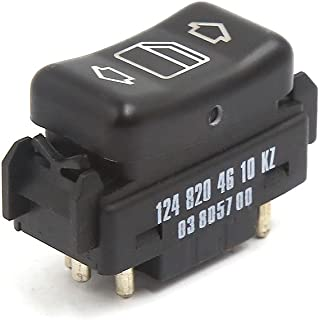 uxcell Front Left Master Control Power Window Switch 1248204610 for Mercedes Benz W124 W126 W201