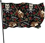Viplili Flagge/Fahne, Rockabilly Seamless Pattern Flag: 3x5 FT Flag Tough The Strongest, Longest Lasting Flag National Flag Outdoor Flags