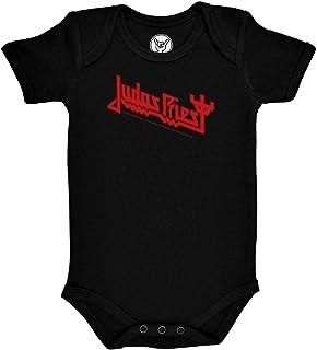 FEA Judas Priest Strampler mit rotem Logo, Schwarz