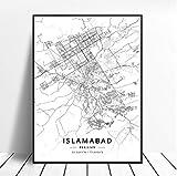 YIGUBIGU Islamabad Lahore Karachi Pakistan Reise Stadtplan