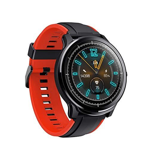 Wasserdichte Smartwatch, 3,3 cm (1,3 Zoll) IPS-Voll-Touch-Display, Fitness-Smartwatch mit Schrittzähler, Bluetooth-Kamera, Anruferinnerung, kompatibel mit iOS und Android (Farbe: Rot)