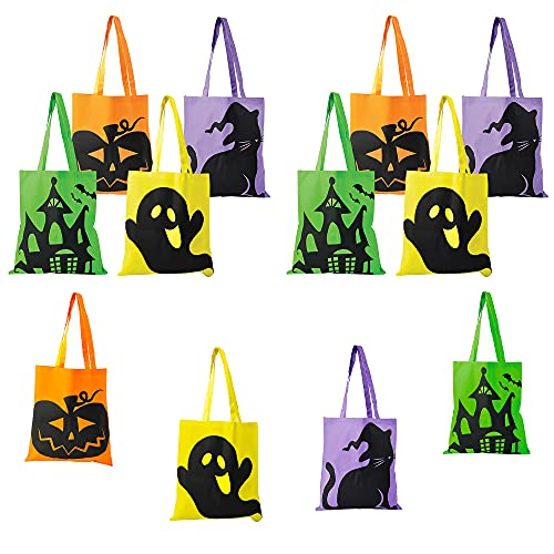 Halloween Tote Bags Perfect For Trick-Or-Treats, 15' x 16' (12-Pack)