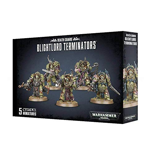 "Games Workshop 99120102074"" Death Guard Blightlord Terminators Miniature"