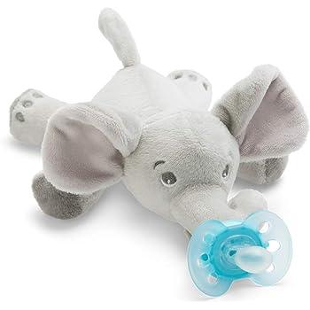 Chupete con mono BabyHuggle - Chupeta con peluche para bebé ...